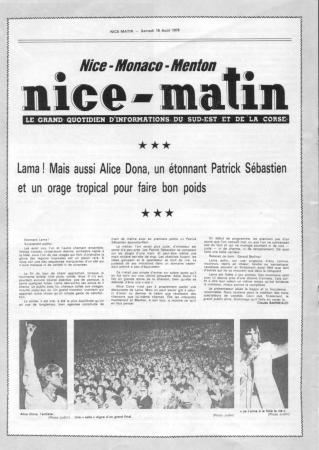 article nice matin 1978